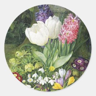Dutch Bulb Spring Flowers Round Sticker