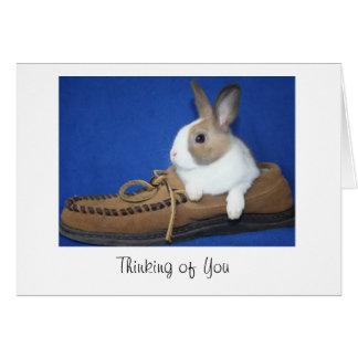 Dutch Bunny Thinking of You Card