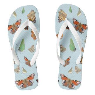 Dutch Butterflies Adult Flip Flops