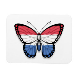 Dutch Butterfly Flag Magnets