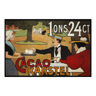 Dutch Cacao Ad 1897 Poster