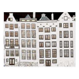 Dutch canal houses design postcard