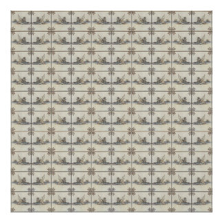 Dutch Ceramic Tiles 4 Canvas Poster