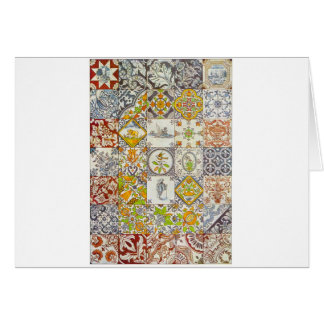 Dutch Ceramic Tiles Greeting Cards