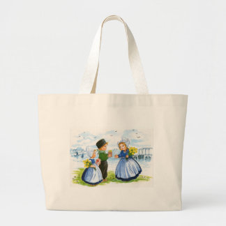 Dutch Children Large Tote Bag