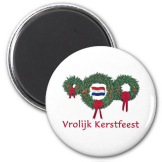 Dutch Christmas 2 Fridge Magnet