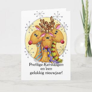 Dutch christmas cards zazzle uk dutch christmas card reindeer prettige kerstda m4hsunfo
