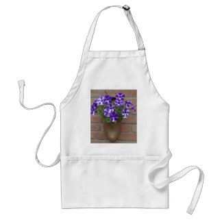 Dutch Clog with Purple Blue White Violet on Wall Standard Apron