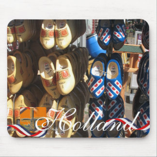 Dutch Clogs Holland Text Souvenir Mousepad