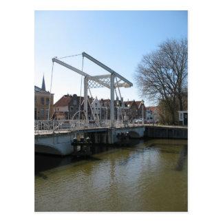 Dutch Draw Bridge in Friesland Photo PostCard