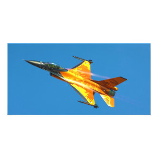 Dutch F-16 Fighting Falcon Jet Airplane Personalized Photo Card