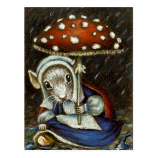 Dutch fairy mouse postcard