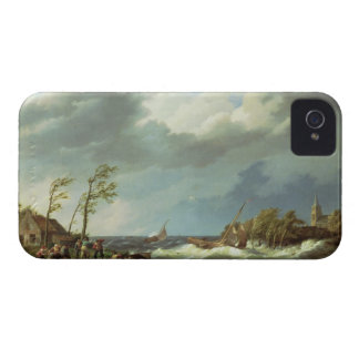 Dutch Fishing Vessel Caught on a Lee Shore with Vi iPhone 4 Cases