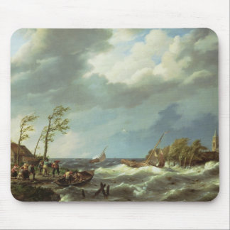 Dutch Fishing Vessel Caught on a Lee Shore with Vi Mouse Pad