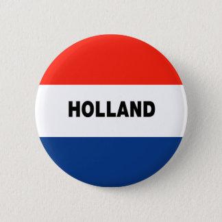 Dutch Flag 6 Cm Round Badge
