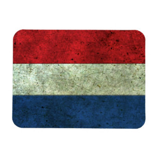 Dutch Flag Aged Steel Effect Vinyl Magnets