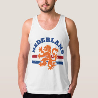 Dutch Flag and Lion Symbol Tank Top