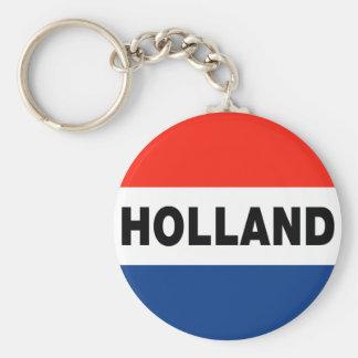 Dutch Flag Basic Round Button Key Ring