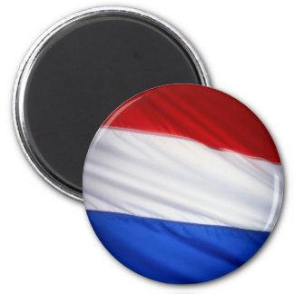 Dutch Flag 6 Cm Round Magnet