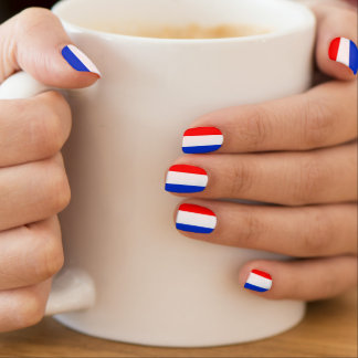 Dutch flag nails minx nail art