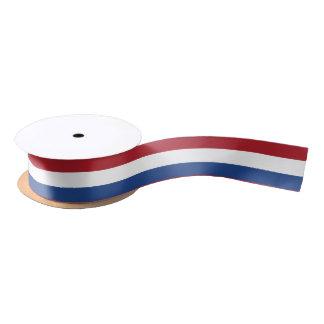 Dutch flag ribbon satin ribbon