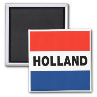 Dutch Flag Square Magnet