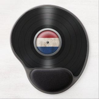 Dutch Flag Vinyl Record Album Graphic Gel Mouse Pad