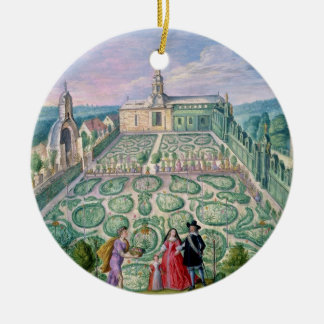 Dutch Garden, 1650 (w/c on paper) Christmas Ornament