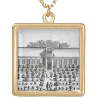 Dutch garden, from 'De Nederlandze Hesperides' by Gold Plated Necklace