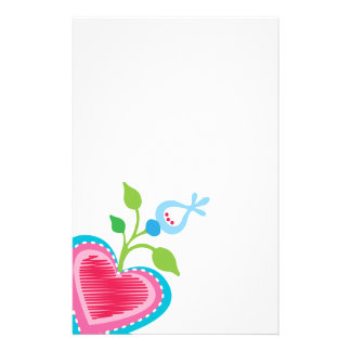 Dutch Garden Heart Stationery