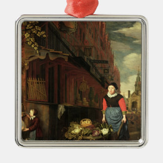 Dutch Genre Scene, 1668 Christmas Ornament