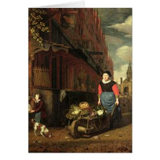 Dutch Genre Scene, 1668 Greeting Card