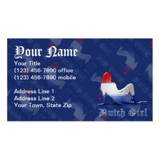 Dutch Girl Silhouette Flag Pack Of Standard Business Cards