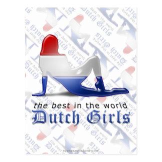 Dutch Girl Silhouette Flag Post Card