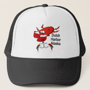 191fd4d1f7e Dutch Harbor Alaska Christmas Crab Fishing Trucker Hat