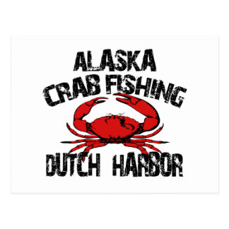 Dutch Harbor Alaska Crab Fishing Postcard