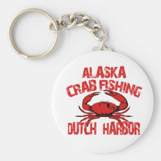 Dutch Harbor Alaska Red Crab Fishing Basic Round Button Key Ring