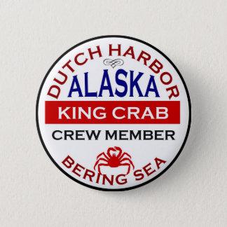 Dutch Harbor Alaskan King Crab Crew Member 6 Cm Round Badge
