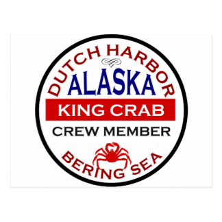 Dutch Harbor Alaskan King Crab Crew Member Postcard
