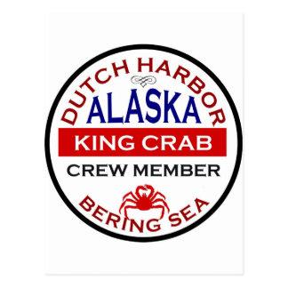 Dutch Harbor Alaskan King Crab Crew Member Postcard