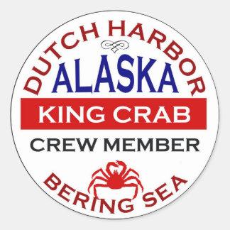 Dutch Harbor Alaskan King Crab Crew Member Round Sticker