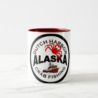 Dutch Harbor Crab Fishing Two-Tone Coffee Mug