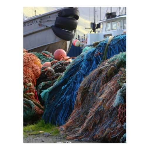 Dutch Harbor Fishing Nets and Boats Postcards
