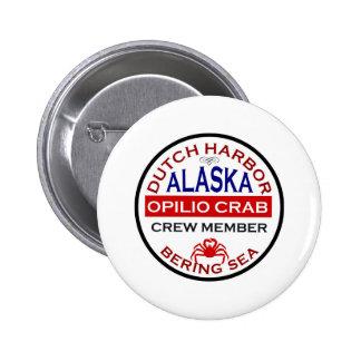 Dutch Harbor Opilio Crab Crew Member 6 Cm Round Badge