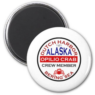 Dutch Harbor Opilio Crab Crew Member 6 Cm Round Magnet