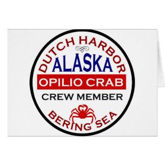 Dutch Harbor Opilio Crab Crew Member Greeting Card