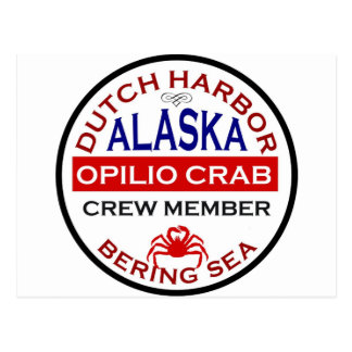 Dutch Harbor Opilio Crab Crew Member Postcard