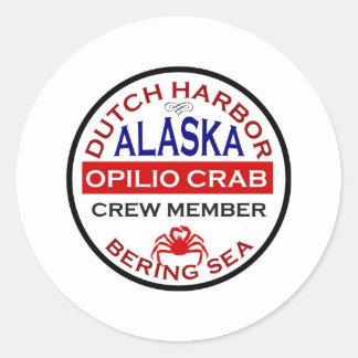 Dutch Harbor Opilio Crab Crew Member Round Sticker