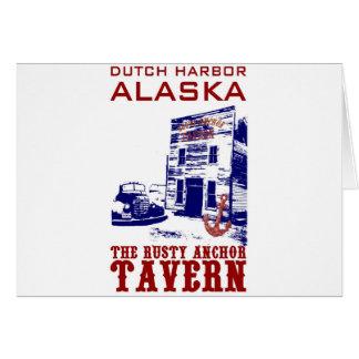 Dutch Harbor Rusty Anchor Tavern Greeting Card