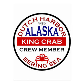 Dutch Harbour Alaskan King Crab Crew Member Postcard